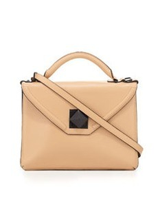 L.A.M.B. Elin Leather Envelope Shoulder Bag, Camel