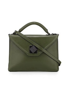 L.A.M.B. Elin Leather Envelope Shoulder Bag, Rifle Green