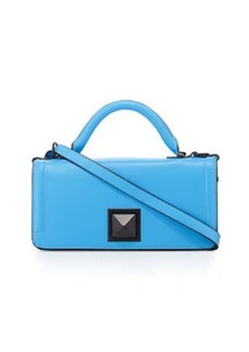 L.A.M.B. Eliza Leather Flap-Top Bag, Blue