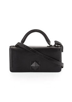 L.A.M.B. Eliza Leather Shoulder Bag, Black