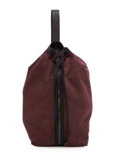 L.A.M.B. Elke Leather Bucket Bag, Wine