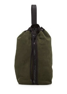 L.A.M.B. Elke Nubuck Bucket Shoulder Bag, Green