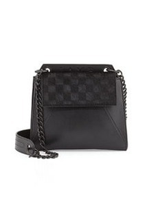 L.A.M.B. Ellis Calf-Hair Shoulder Bag, Black