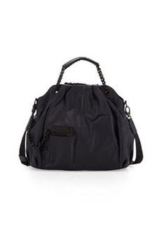 L.A.M.B. Ember Leather Hobo Bag, Midnight