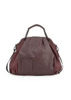 L.A.M.B. Ember Leather Hobo Bag, Wine