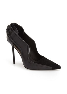 L.A.M.B. 'Enforce' Leather & Suede Pointy Toe Pump (Women)