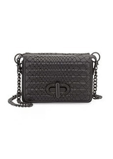 L.A.M.B. Esta Double Flap-Top Crossbody Bag, Black