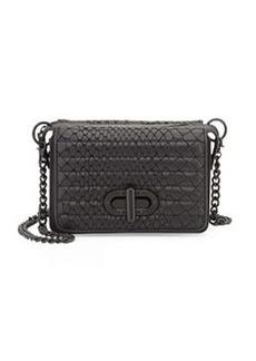 L.A.M.B. Esta Double Flap-Top Crossbody Bag, Black