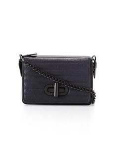 L.A.M.B. Esta Double Flap-Top Crossbody Bag, Midnight