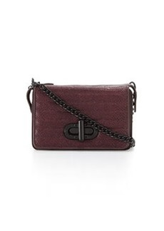 L.A.M.B. Esta Double Flap-Top Crossbody Bag, Wine