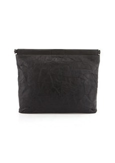 L.A.M.B. Fallon Leather Clutch Bag, Black