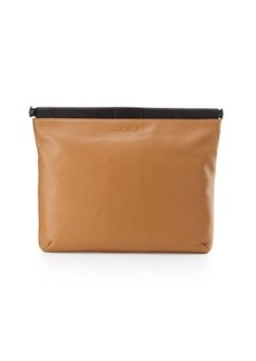 L.A.M.B. Fallon Leather Clutch Bag
