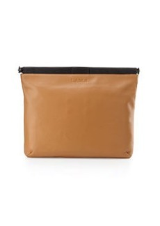 L.A.M.B. Fallon Leather Clutch Bag, Natural