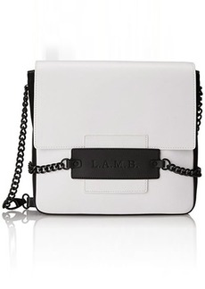 L.A.M.B. Freda Shoulder Bag, White/Black, One Size