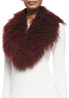 Lamb Fur Collar, Burgundy   Lamb Fur Collar, Burgundy