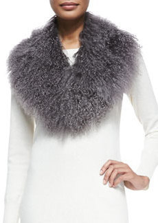 Lamb Fur Collar, Gray   Lamb Fur Collar, Gray