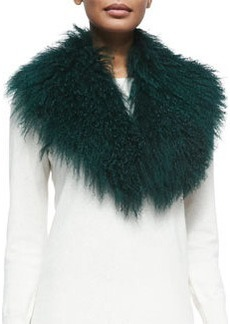 Lamb Fur Collar, Green   Lamb Fur Collar, Green