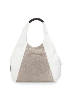 L.A.M.B. Gabe Leather Tote Bag, White