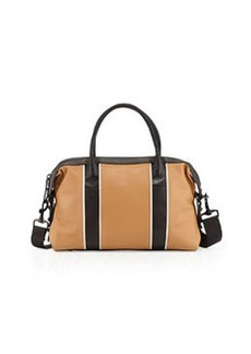 L.A.M.B. Gigi Leather Satchel Bag, Natural