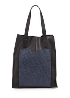 L.A.M.B. Gillian Leather Tote Bag, Black