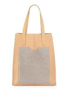 L.A.M.B. Gillian Leather Tote Bag, Natural