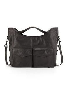 L.A.M.B. Glad Leather Shoulder Bag, Black