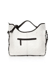 L.A.M.B. Glad Leather Shoulder Bag, White