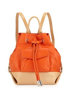L.A.M.B. Gracie Colorblock Leather Backpack, Orange