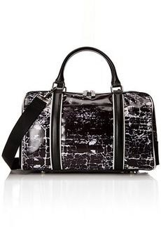 L.A.M.B. Gretchen 2 Top Handle Bag, Black/White, One Size