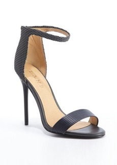 L.A.M.B. grey and black rubber mesh detail 'Destiny' heel sandals