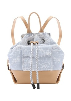 L.A.M.B. grey crackle print canvas 'Gracie2' backpack