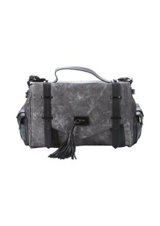 L.A.M.B. grey leather 'Ellergy' tassel detail shoulder bag
