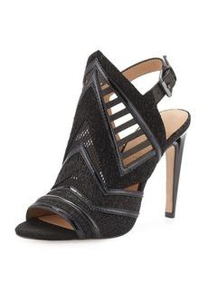 L.A.M.B. Hadley Cutout Leather Sandal