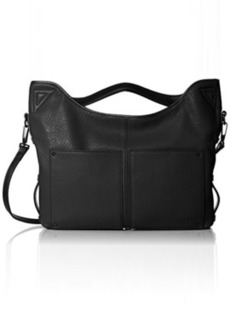 L.A.M.B. Haines Soft Structure Satchel Top Handle Bag, Black, One Size