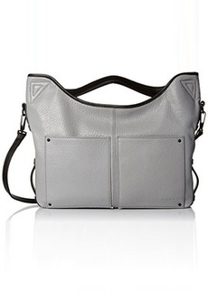 L.A.M.B. Haines Soft Structure Satchel Top Handle Bag, Grey, One Size