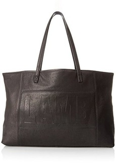 L.A.M.B. Halena Tote with Removable Pouch Shoulder Bag, Black, One Size