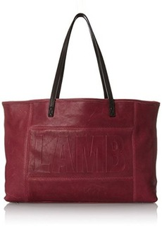 L.A.M.B. Halena Tote with Removable Pouch Shoulder Bag, Wine, One Size