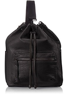 L.A.M.B. Halie Convertible Sling Bucket Shoulder Bag, Black, One Size