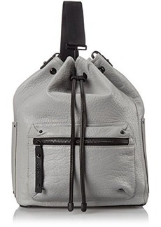 L.A.M.B. Halie Convertible Sling Bucket Shoulder Bag, Grey, One Size