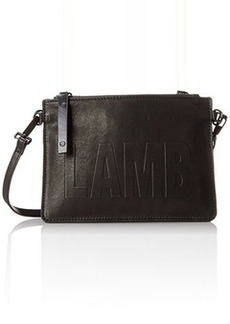 L.A.M.B. Harriet Double Pouch Cross Body Bag, Black, One Size