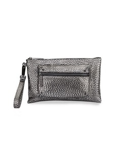 L.A.M.B. Ian Metallic Leather Wristlet