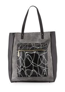 L.A.M.B. Ibis Metallic Leather Tote Bag