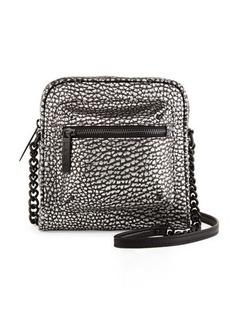 L.A.M.B. Ice Metallic Leather Crossbody Bag
