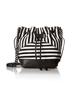 L.A.M.B. Ickett Bucket Cross Body Bag, Black/White, One Size