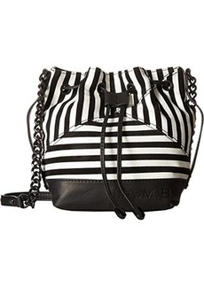 L.A.M.B. Ickett Bucket Cross Body Bag, Black/White, One Size