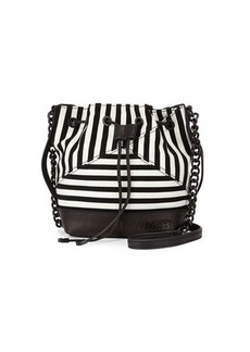 L.A.M.B. Ickett Striped Suede Drawstring Bucket Bag