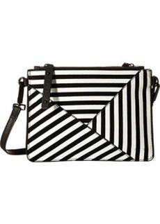 L.A.M.B. Idola Cross Body Bag, Black/White, One Size