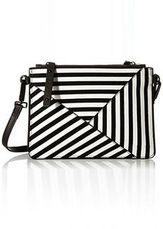 L.A.M.B. Idola Cross Body Bag, Black/White, One Size