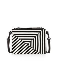 L.A.M.B. Idola Striped Suede Crossbody Bag