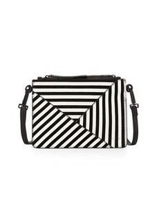 L.A.M.B. Idola Striped Suede Crossbody Bag